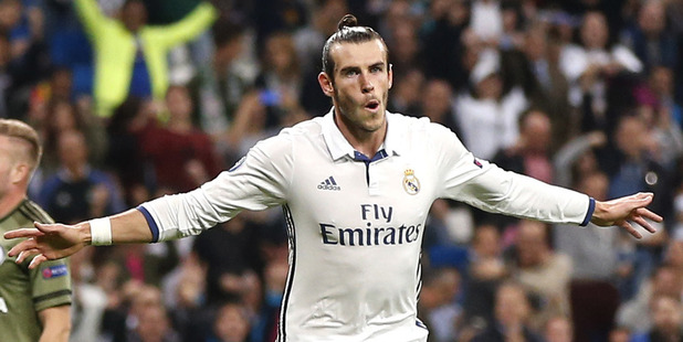 Gareth Bale will be paid $185m over the next six years at Real Madrid. Photo / AP