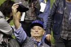 Bill Murray celebrates after Game 7 of the Major League Baseball World Series between the Cleveland Indians and the Chicago Cubs. Photo / AP