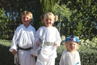 THE LIGHT SIDE: The force was strong with siblings Zak (Luke), Kate (Leia) and Lacey (R2D2)