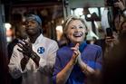 Hillary Clinton visits a