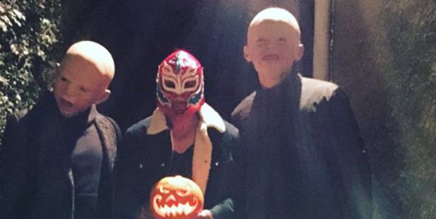 Dan Carter gets in the spirit of Halloween in Paris. Photo /Twitter - @DanCarter