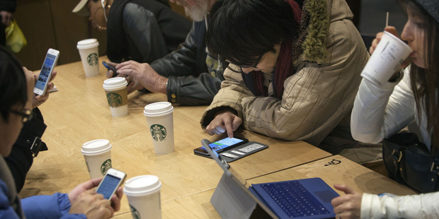 Millennials account for about 44 per cent of U.S. coffee demand. Photo / Bloomberg