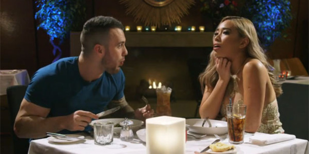 Simon and Carey enjoy their first date together.