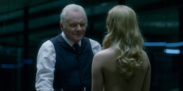 A scene from the TV show, Westworld.