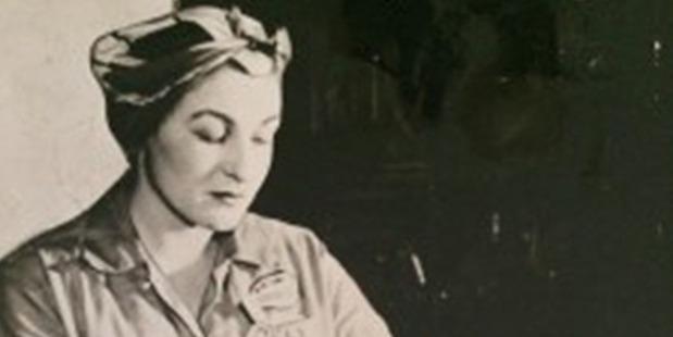 Estelle Schultz working in a plant during World War II. Photo / Family photo via Washington Post