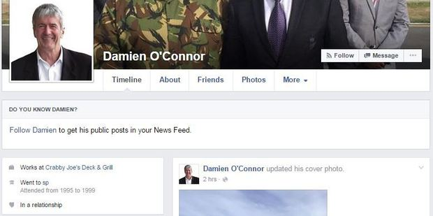 The fake Facebook page.