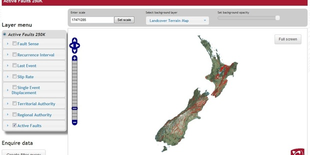 The New Zealand Active Faults Database was designed as a handy tool for planners and policymakers. Photo: GNS Science