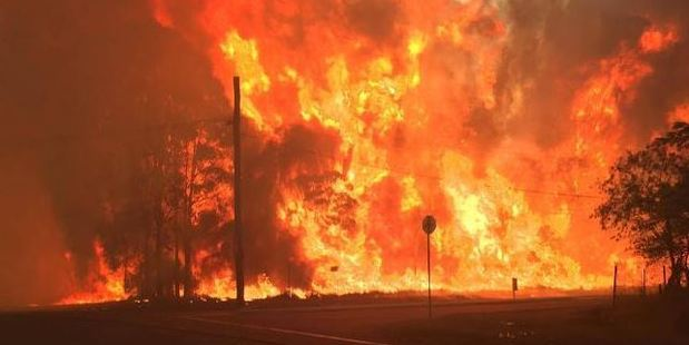 Residents have been advised to leave the area or seek shelter while motorists should avoid the suburbs. Photo / Supplied