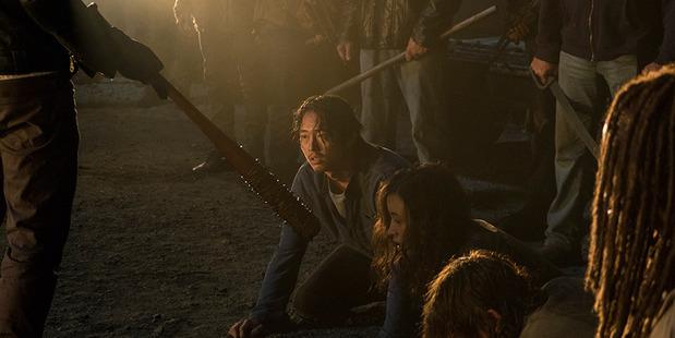 Glenn meets his end on The Walking Dead. Photo / AMC
