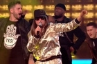 Source: YouTube: The X Factor UK. Representing North Weezy, it's Honey G.