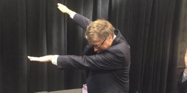 Bill Gates dabbing.