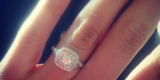 Caroline Lynskey's engagement ring. Photo / Supplied