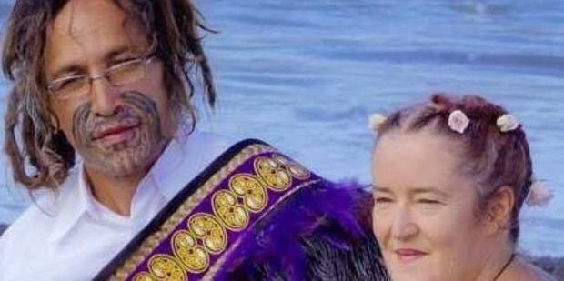 Joseph Taurua Terrill with wife Anahera on their wedding day. Photo/supplied