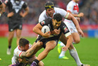 New Zealand's Jordan Kahu was on edge during the last 20 minutes of Sunday's match. Photo / AP