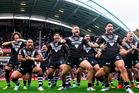 The Kiwis perform the haka against England. Photosport