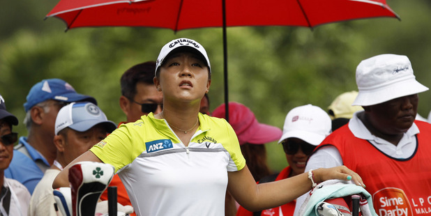 Lydia Ko of New Zealand waits for her turn to tee off on the 10th hole during the final round of the LPGA golf tournament at Tournament Players Club in Kuala Lumpur, Malaysia. Photo / AP