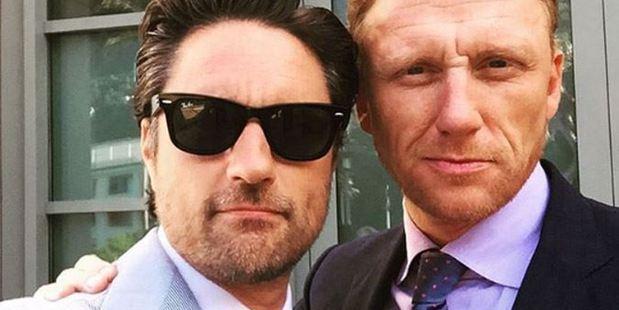 Martin Henderson and Kevin McKidd. Photo / Instagram.
