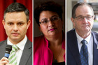 James Shaw, Metiria Turei and Chester Borrows are nervous about the US election. Photos / File