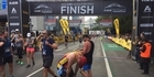 Watch: Auckland marathon newbie crosses line first