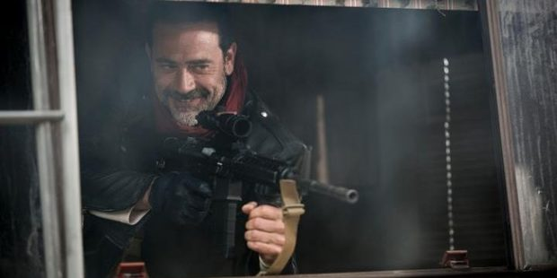 Jeffrey Dean Morgan as Negan in the television series, The Walking Dead.