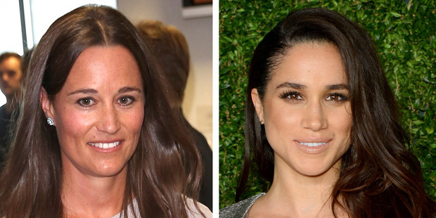 Eagle-eyed fans have taken to Twitter to note the similarities between Meghan and Pippa. Photos / Getty