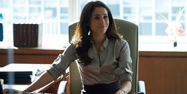 Meghan Markle as Rachel Zane is Suits. Photo / USA Network