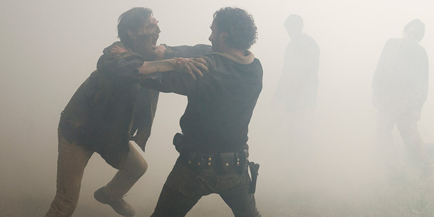 Is the gore and violence on the Walking Dead crossing a line? Photo / AMC