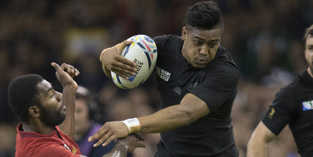 Loading Julian Savea in action against France at last year's Rugby World Cup. Photo / Brett Phibbs