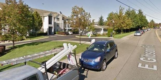 The girl's remains were found at a home on the 12600 block of E. Gibson Rd in Everett, Washington. Photo / Google Streetview