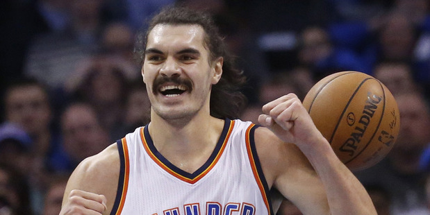 Loading Steven Adams' provides the Oklahoma City Thunder with something that not many other players can. Photo / AP