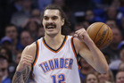 Steven Adams signed a four-year deal with the Thunder yesterday. Photo / AP