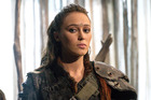 Alycia Debnam-Carey as Commander Lexa in The 100. The character's death spurred fans to protest the deaths of lesbian and bisexual characters on television. Photo / The CW