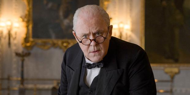 John Lithgow as Sir Winston Churchill in Netflix's The Crown. Photo / Alex Bailey, Netflix