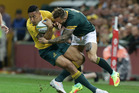 The Wallabies and Springboks have been staying in the same London hotel. Photosport