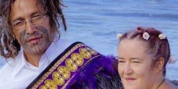 Joseph Taurua Terrill and his wife. Photo / Facebook