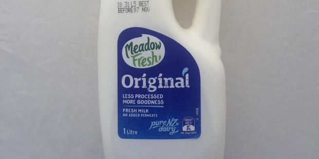 Meadow Fresh Original Milk. Photo / Supplied