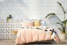Linen duvet cover, pillowcases and throw from Citta Design.