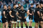 All Blacks stunned after losing to Ireland during the test match between the New Zealand All Blacks and Ireland, held at Solider Field, Chicago.      05  November   2016    New Zealand Herald photograph by Brett Phibbs