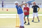Cricket Mini World Cup primary schools played at Blake Park. Freddie Coxhead 11yrs Bethlehem College. Photo/John Borren