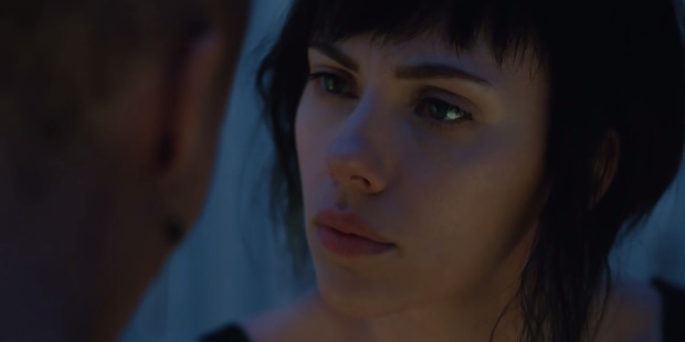 Scarlett Johansson in the film Ghost In The Shell.