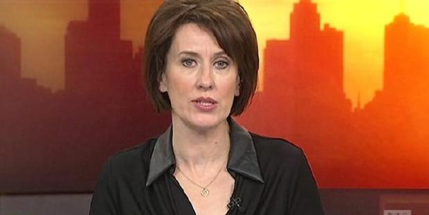 ABC Breakfast presenter Virginia Trioli was left red-faced this morning. Photo / ABC