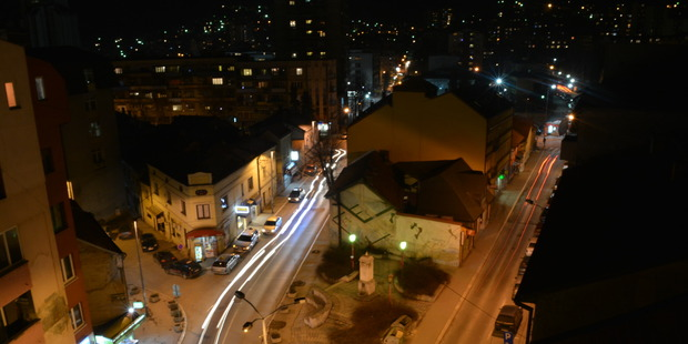 The Serbian city of Uzice by night. Photo / Creative Commons image by Flickr user Ramić Petar