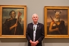 Benjamin Pittman admires the portraits of his ancestors in a new major exhibition at the Auckland Art Gallery