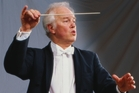 Conductor Edo de Waart led a scaled-down orchestra.