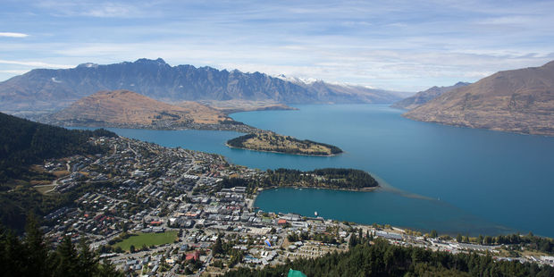 Queenstown with the Remarkables in the backround. Photo / 123rf