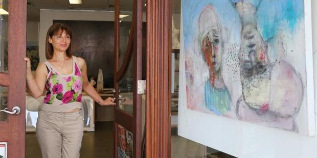 Nadine Abensur at the Art Piece Gallery. Photo / News Corp Australia