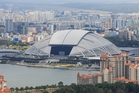 Singapore Sports Hub, with the National Stadium.