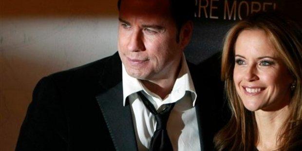 Kelly Preston and her husband John Travolta. Photo / AP