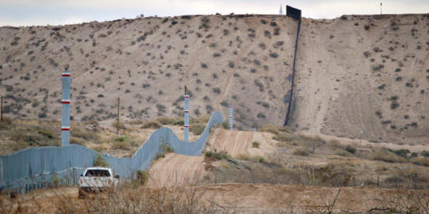 The US-Mexico border fence in Sunland Park, New Mexico. Will it be replaced with a wall? Photo / AP