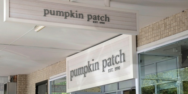 Pumpkin Patch in Victoria Ave, Whanganui will be closing this week as company goes into receivership. Photo / Bevan Conley.